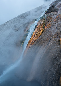 small waterfall in yellowstone