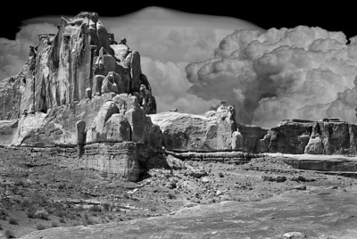 Atomic Clouds, Arches Nat Park, Utah (Composite photo)