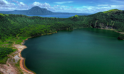 Crater lake in Taal Volcano