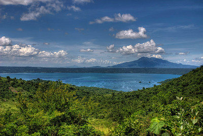On the way to the top of the Taal volcano in the Philippines