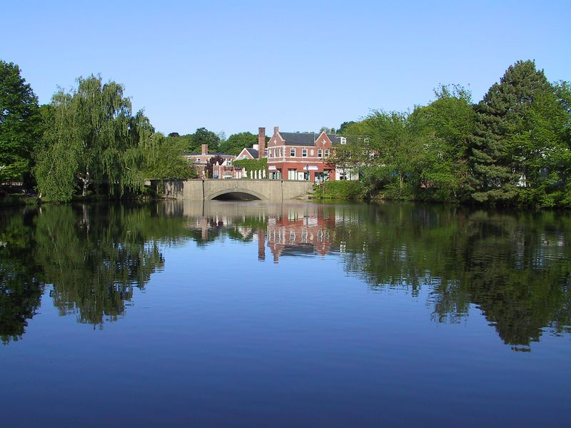 <b>Downtown Winchester across pond</b>   (May 19, 2002, 06:17am)