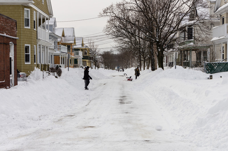 Feb 9, 2013, Neighborhood digs out from the blizzard.