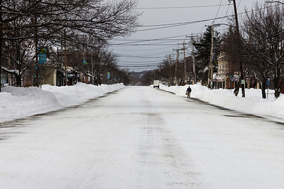 Feb 9, 2013 - After the blizzard, traffic was banned from all roads.  This is Mass Ave, which is usually full of cars.