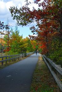 Nahsua River Rail Trail in the fall.