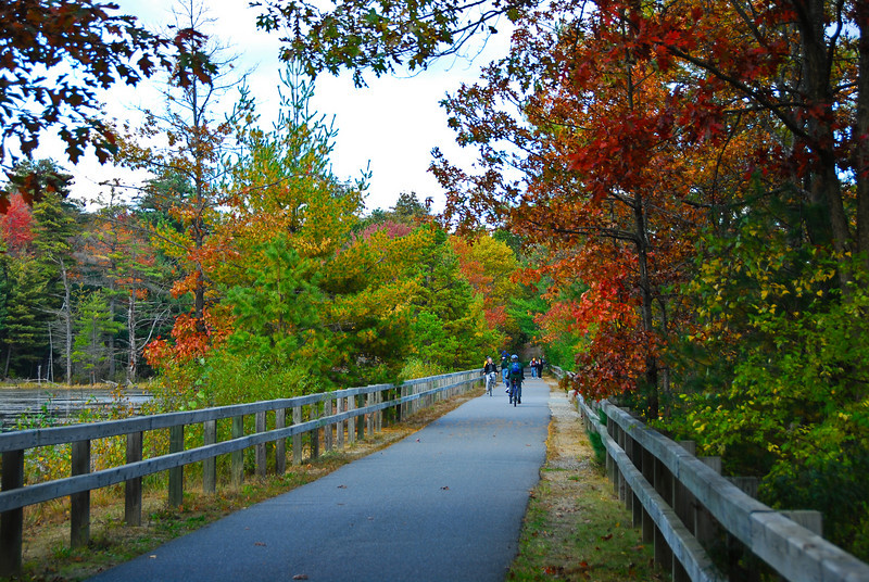 Nahsua River Rail Trail in the fall.