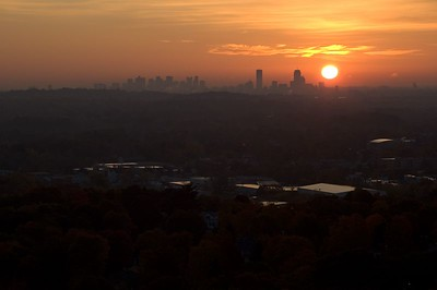 Boston sunrise from Prospect Hill   (Oct 27, 2004, 07:15am)