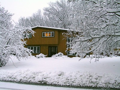 Our house seen during a fresh snowfall   (Dec 09, 2001, 08:56am)