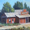 Idaho Store (David Wolfram's class and photograph, my first oil paintings) 23 Mar 2017
