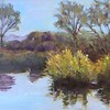 Madrona Marsh (David Wolfram's class and photograph, my first oil paintings) 23 Mar 2017
