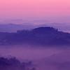 sunrise tuscany, italy