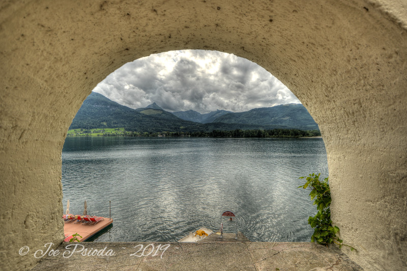 Framed Mountain Lake