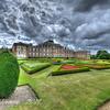 Sky Over Geometric Garden