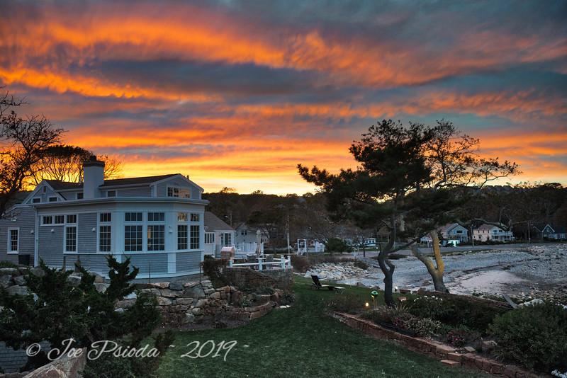 Sunset in Rockport Massachusetts