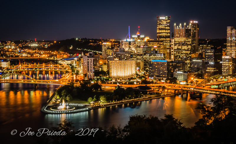 A Night View from Mt. Washington