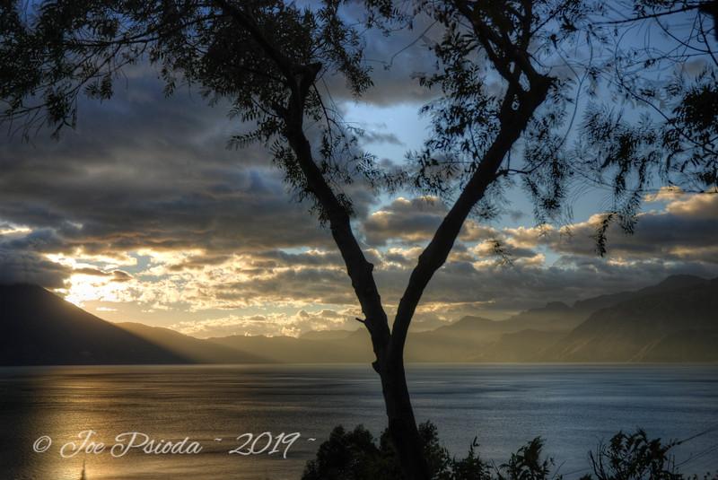Sunset Sets Over Lake Atitlan