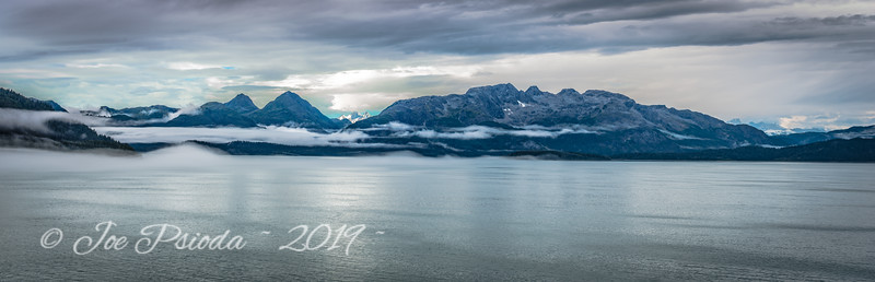 Fog Laced Mountains - Glacier Bay Alaska