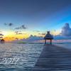 Sunrise Over Caribbean Mexico