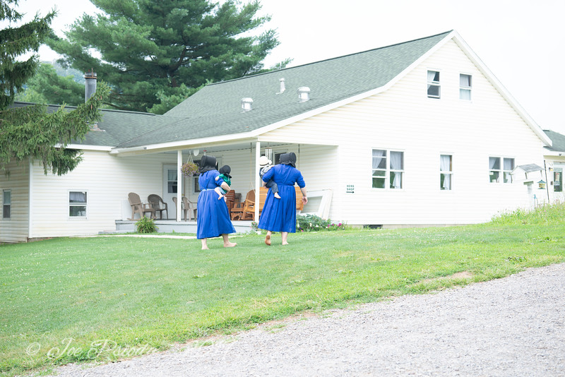 Amish Women with Young Children