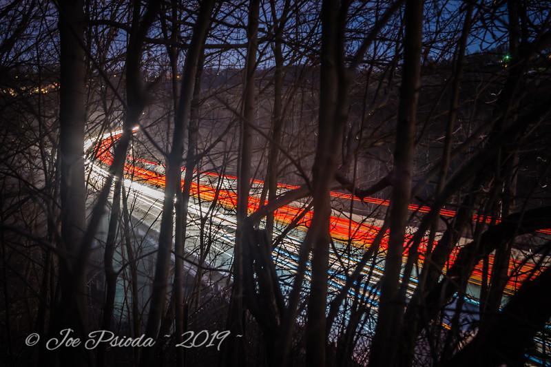 Light Trails Along the Turnpike