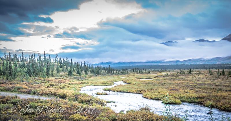 Fog Blanketing the Alaska Range
