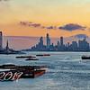 New York Harbor at First Sun
