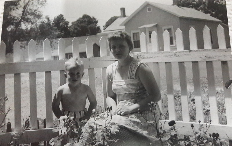 1956 Photo taken in the Front yard of the Toddville Iowa House.