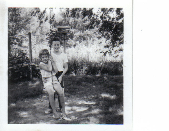 Photo taken in the Backyard of the Toddville Iowa House. Approx. 1962-1963