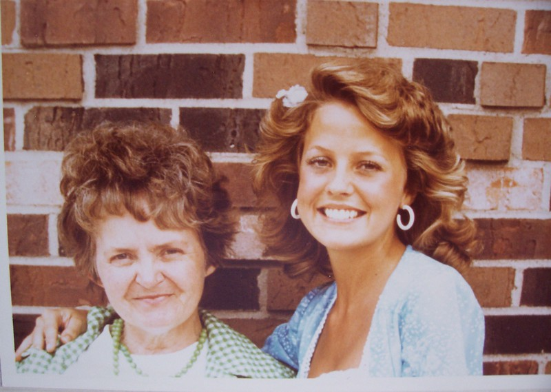 LouAnn and My mother Betty Phillips at a Farrah Fawcett Look Alike Contest