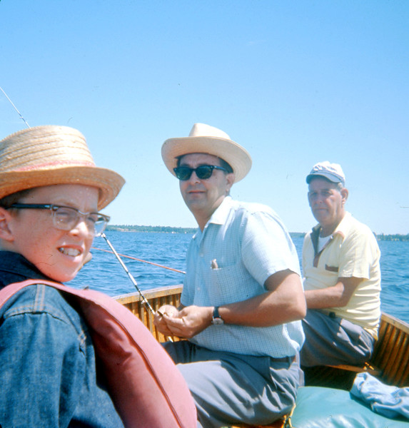 Approx. 1963-1964 Canada Fishing Trip  My Father John in the Sunglasses and Uncle Delbert