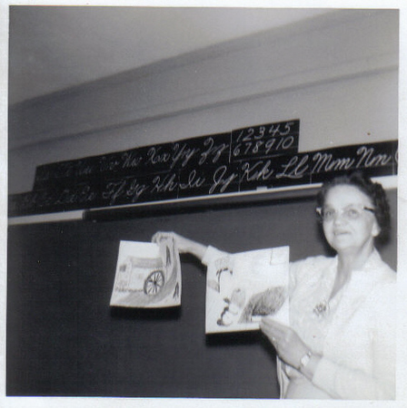 1963  My fourth Grade Teacher at Toddville Mrs. White.