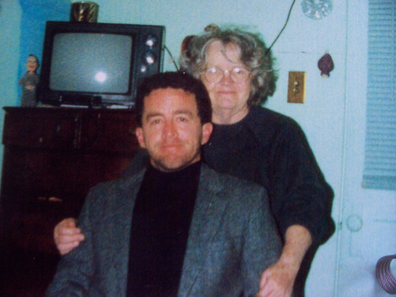 John and Mother, photo taken at 6th street apartment