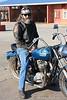 Phillip on Judy's bike - different seat -