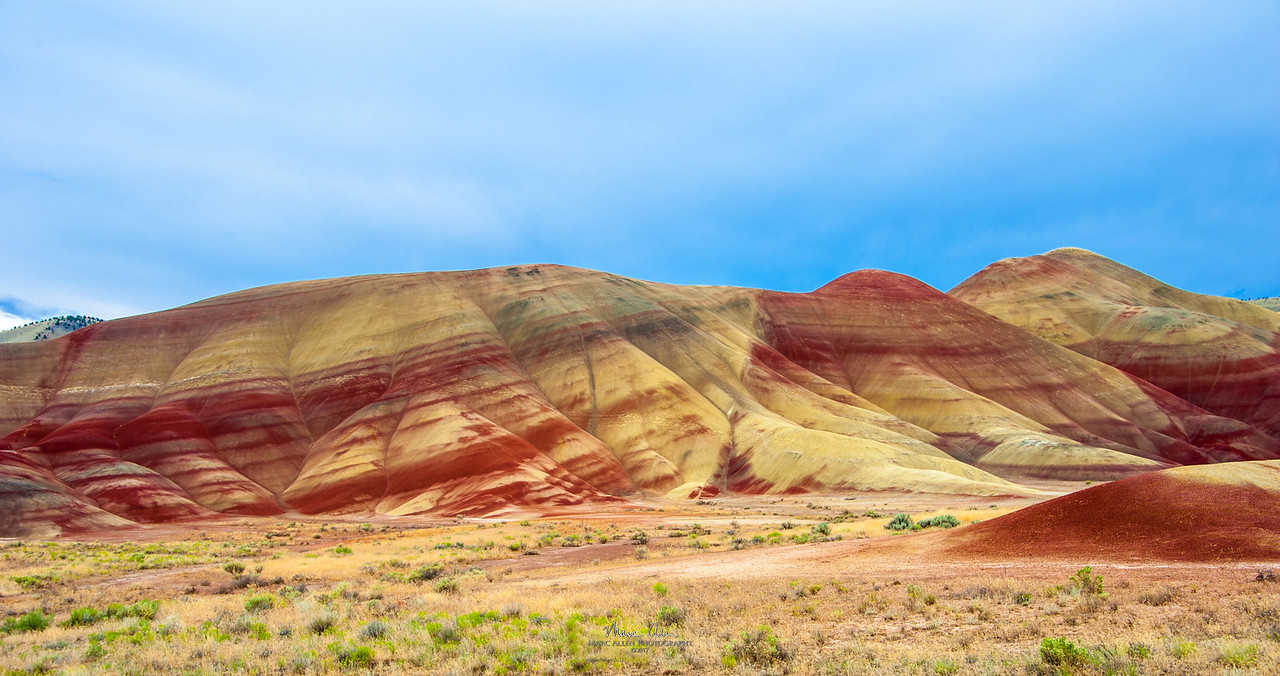 Painted Hills, at John Day National Monument, July 2, 2014. For this photo I recommend a panoramic print in a size with an aspect ratio of 1:2 or 1:3.