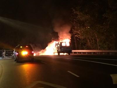 Car Fire - Berlin Turnpike, Berlin, CT - 10/9/2016