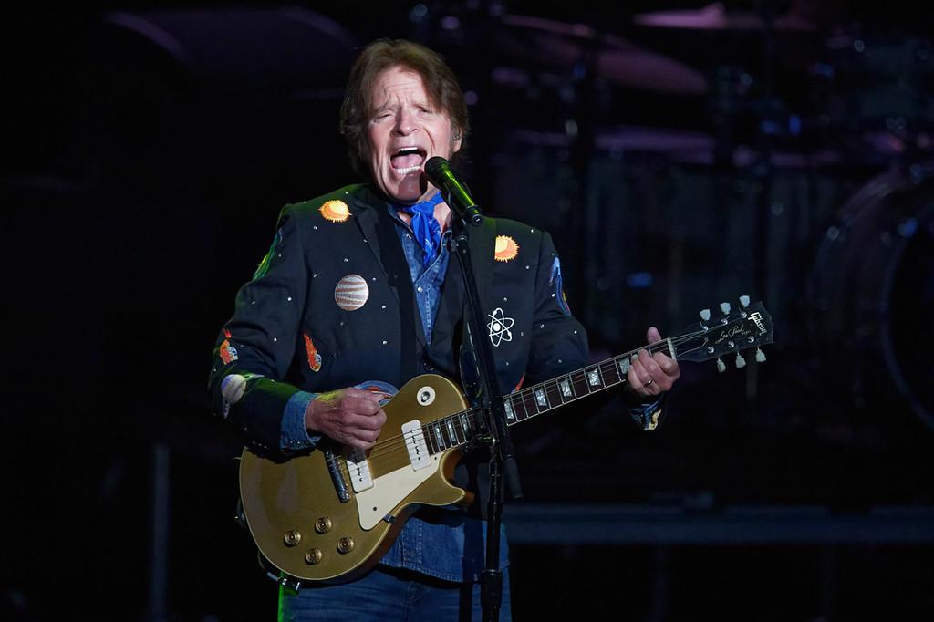 . John Fogerty live at DTE on 6-27-2018.  Photo credit: Ken Settle