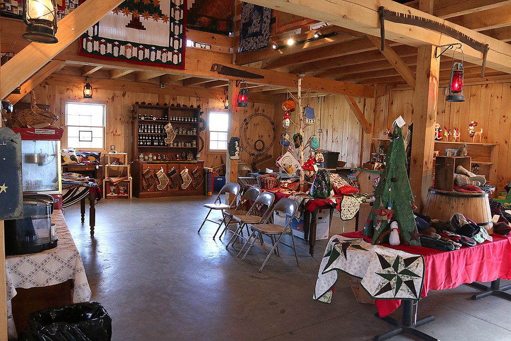 . John Hussey\'s Christmas tree farm in Townsend was featured in a new made-for-TV movie that will air on the Ion Television channel on December 3, 2017. The inside of the barn that was used for a wedding scene in the movie. SUN/JOHN LOVE