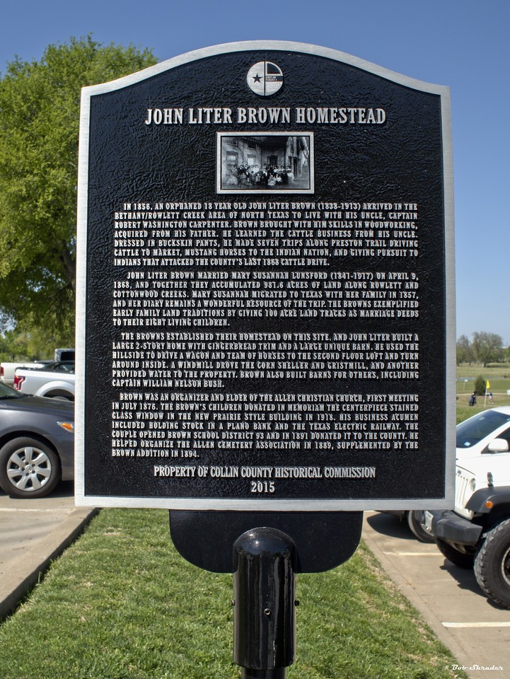 Collin County Historical Commission County Marker Dedication, John Liter Brown Homestead, 7201 Chase Oaks Boulevard, Plano, Texas, March 25, 2017. Olympus PEN-F and M.Zuiko 17mm F1.8.