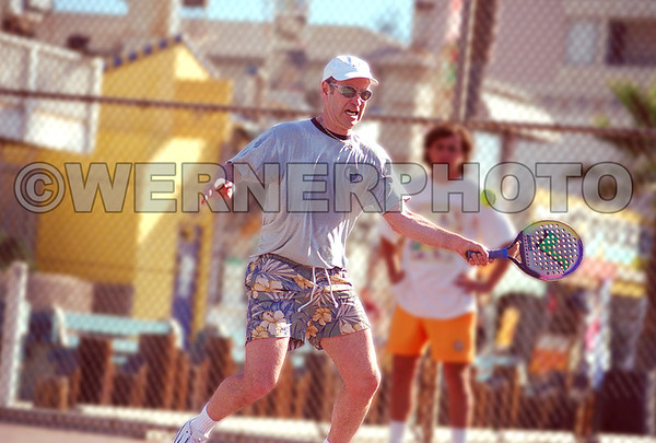 John McEnroe playing Paddle Tennis at Venice Beach