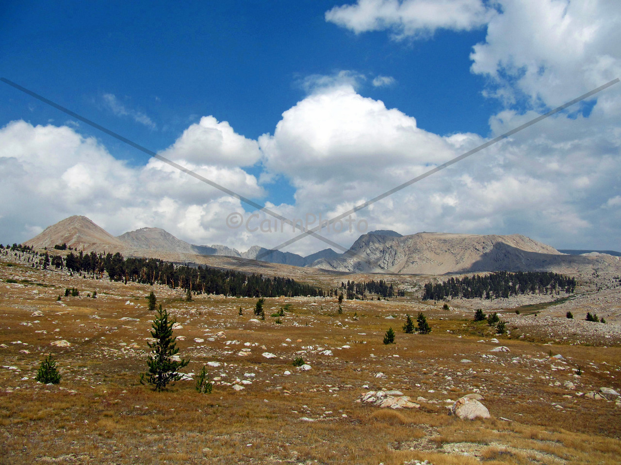 After crossing Forester Pass and heading south, turn around and you'll see the pass itself and the Great Western Divide.