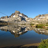 1000 Island Lake with a near perfect reflection of Banner Peak.
