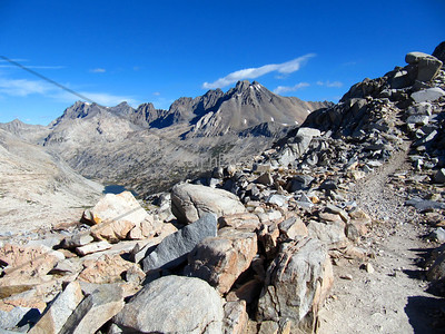 Mather Pass: just south of the Palisades Lakes and north of Upper Basin.