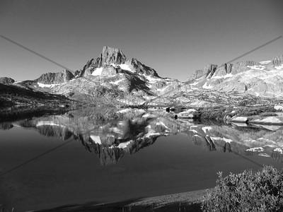 1000 Isle Lake in Black and White
