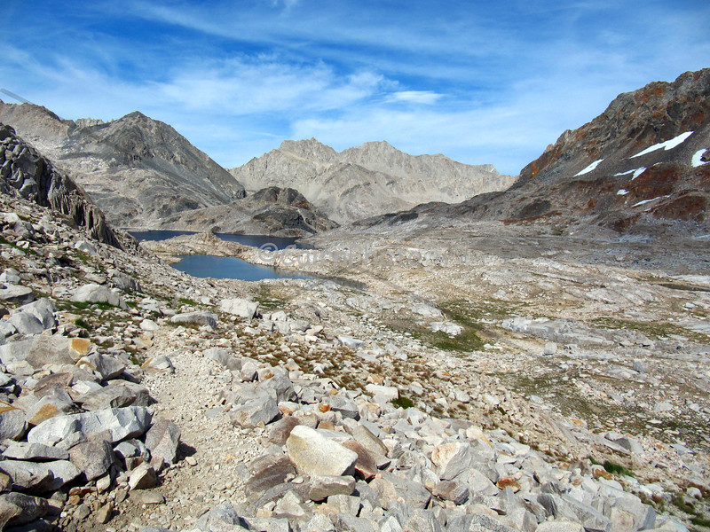 Looking south from Muir Pass towards Helen lake.
