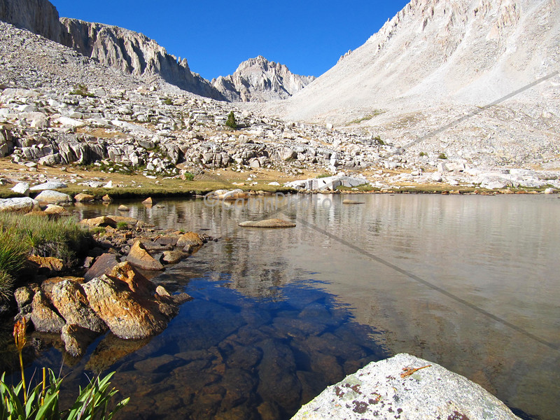 Guitar Lake on the way up Mt. Whitney from the west.