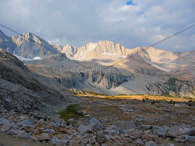 Deer Horn Mountain and Mt. Stanford from the north side of Forester Pass.