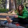 Tammy and her foot dressings at Deer Creek.