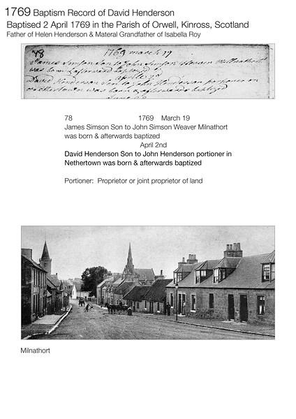 1769 Birth David Henderson