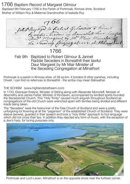 1766 OPR Birth Margaret Gilmour Original
