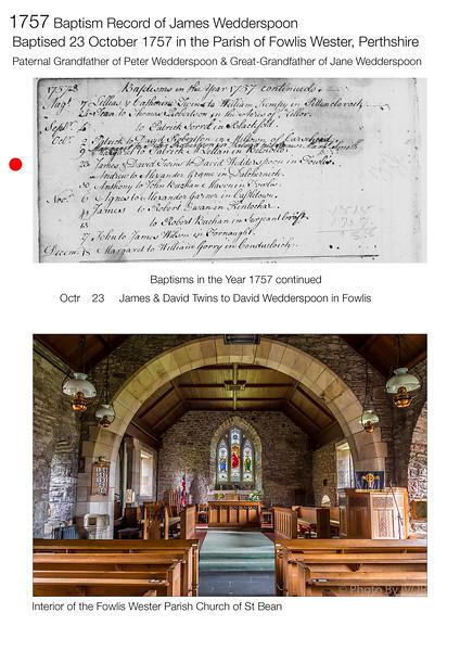 1757 Baptism James Wedderspoon Original
