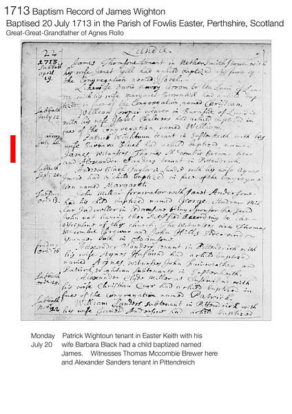 1713 Baptism James Wighton